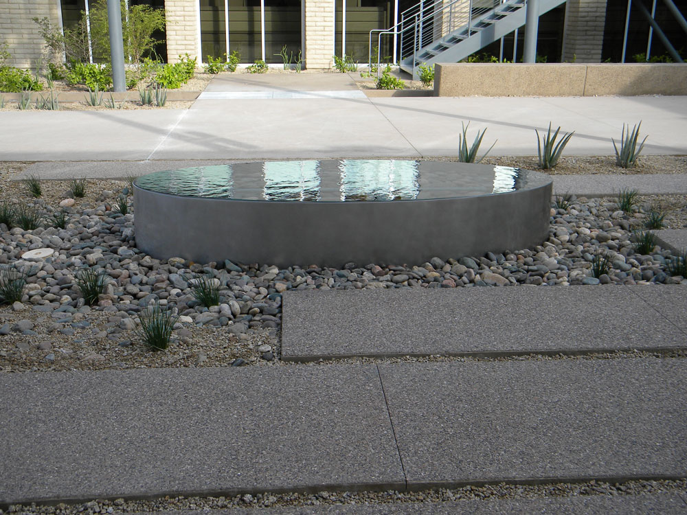 APS. Stainless steel water feature.