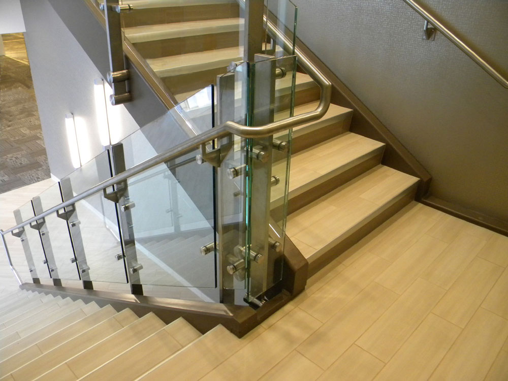 827 Grove - Glass with stainless steel post.