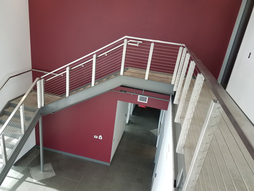 Wire Masters - Stainless steel post, cable and handrail.