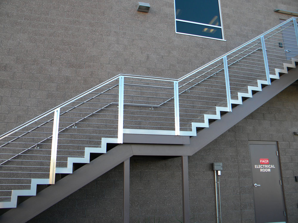 Haydon office building - stainless steel railing and trim.