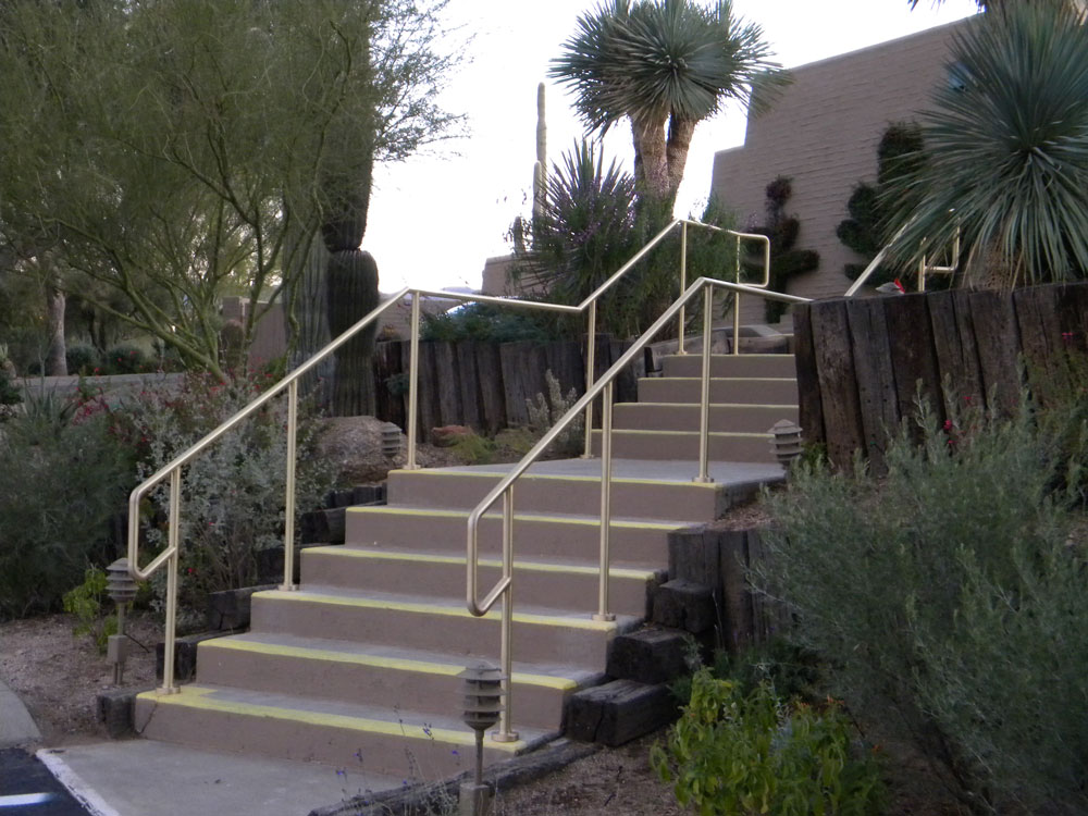 Desert Foothills Golf Course - brass railing with satin finish and clear coat.