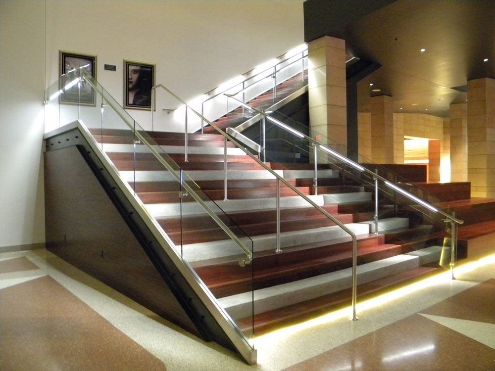 Ak Chin - Glass in shoe, cladding, and lighted handrail.