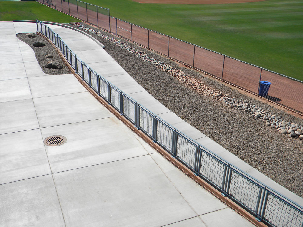 Padres Field - painted steel mesh panel railing.