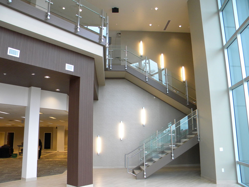 827 Grove - glass with stainless steel post and handrail.
