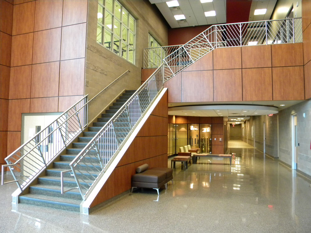 Gila River Indian Community Center - custom stainless steel railing.