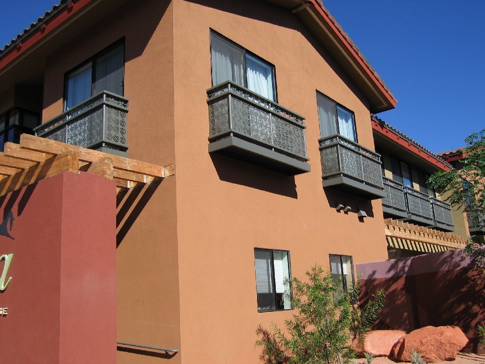 Sedona Rouge Hotel - painted steel with custom panels.