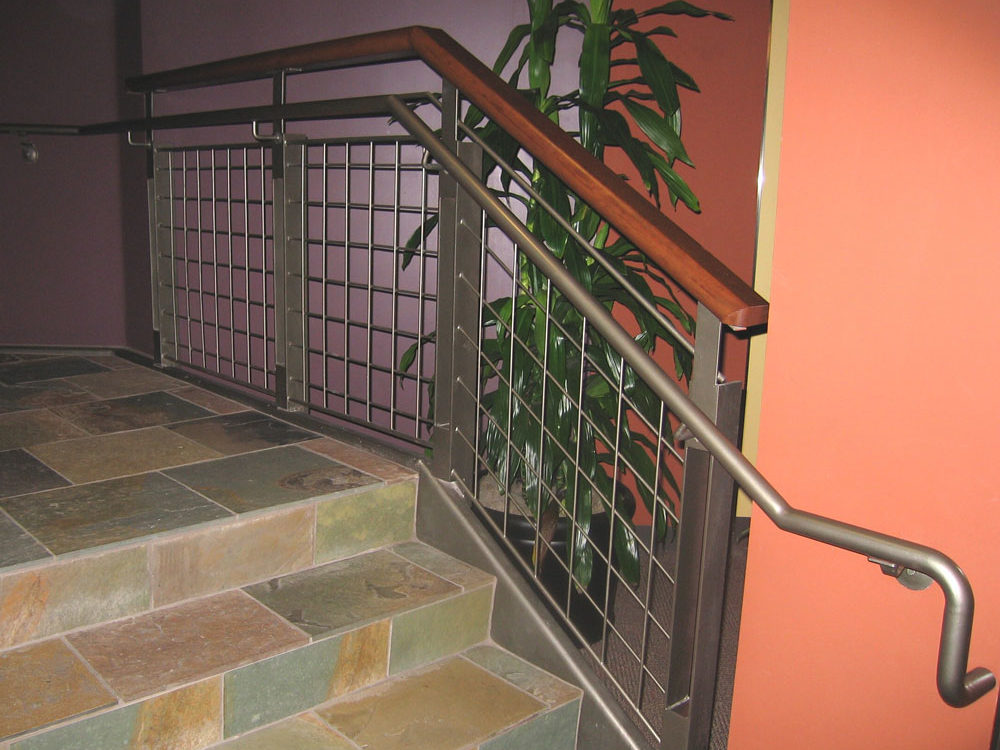 DC Ranch Village Spa - painted steel railing.