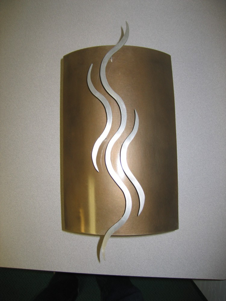 Spectrum Falls. Brass with Stainless steel.