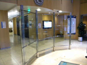 Rio Salado. Stainless steel and glass room divider.